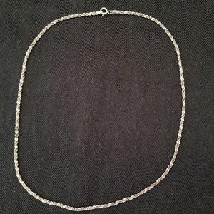 Vintage Sterling Twisted Herringbone Chain